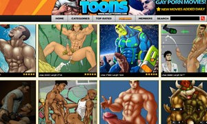 Nice paid xxx site with a huge collection of gay porn cartoons