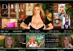 Popular paid sex site featurin the sexy model Danielle