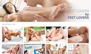 Good paid xxx site for the fans of footjob porn action