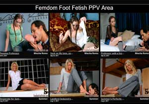 Top premium adult website for the fans of foot fetish porn action