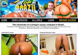 Popular paid adult site with Brazilian porn pictures