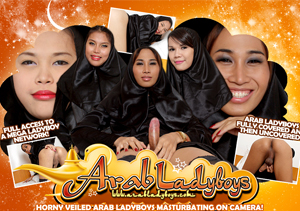 Bewst pay porn site for sexy Arab ladyboys.